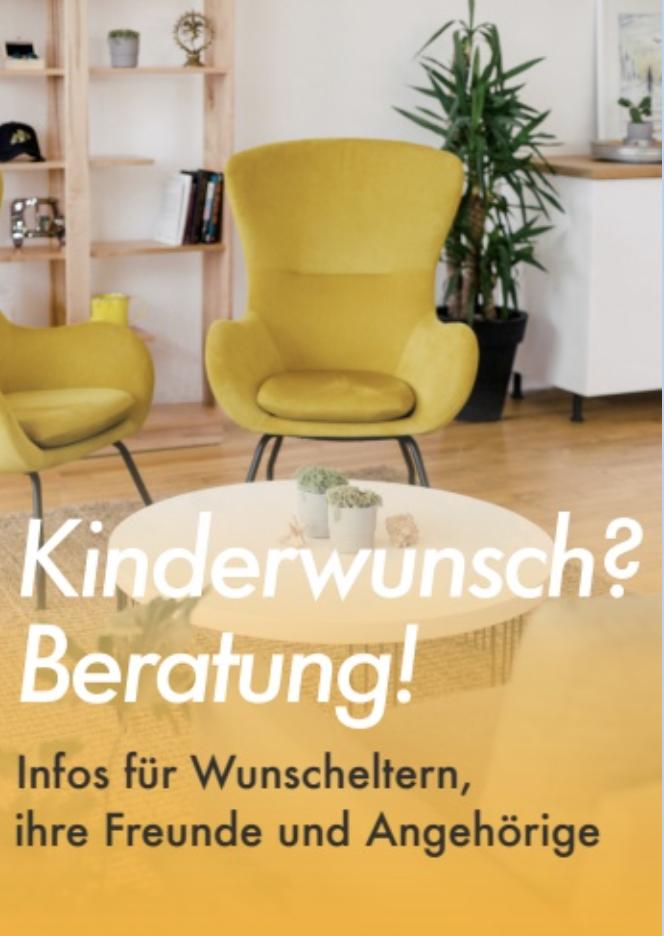 BKID Flyer für Wunscheltern, ihre Freund und Angehörige